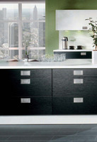 das k chenstudio kira schwarz weiss. Black Bedroom Furniture Sets. Home Design Ideas